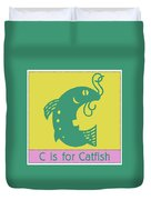 C Is For Catfish Kids Animal Alphabet Duvet Cover