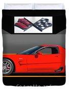 C5 Corvette Zo6 'profile' I Duvet Cover