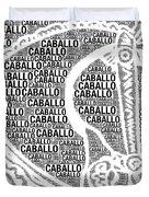 Caballo Duvet Cover