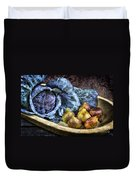 Cabbage And Figs Duvet Cover by Sari Sauls