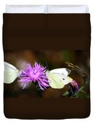 Cabbage Butterflies On Spotted Knapweed Duvet Cover