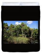 Cabbage Palms Along The Cotee River Duvet Cover