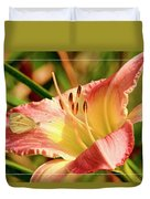 Cabbage White Butterfly On Day Lily Duvet Cover