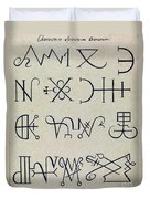 Cabbalistic Signs And Sigils, 18th Duvet Cover