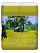 Cabin At Valley Forge Duvet Cover