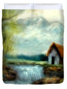 Cabin By The River Duvet Cover