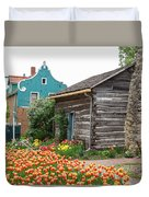 Cabin By The Tulips Duvet Cover