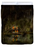 Cabin - De Land, Fl - Restless Night 1904 Duvet Cover