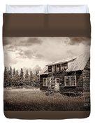 Cabin In Kenai Duvet Cover