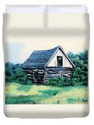 Cabin In The Clearing Duvet Cover