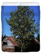 Cabin In The Meadow Duvet Cover