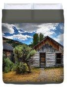 Cabin In The Sagebrush Duvet Cover