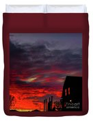 Cabin In The Shadows Duvet Cover