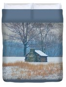 Cabin In The Snow - Valley Forge Duvet Cover