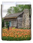 Cabin In The Tulips Duvet Cover