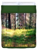 Cabin In The Woods In Menashe Forest Duvet Cover