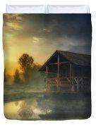 Cabin Sunrise Duvet Cover