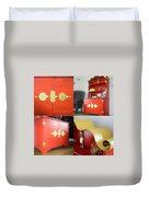 Cabinet And Shelves - Red Nonconformist Duvet Cover