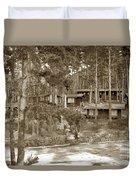 Cabins At Carmel Highlands Inn Circa 1930 Duvet Cover