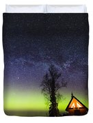 Cabins Glow Duvet Cover