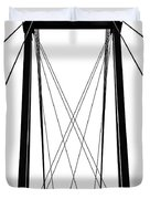 Cable Bridge Abstract Duvet Cover