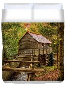 Cable Mill Cades Cove Smoky Mountains Tennessee In Autumn Duvet Cover