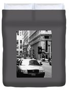 Cabs In The City Duvet Cover
