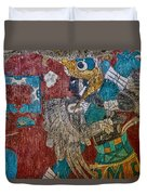 Cacaxtla Warrior II Duvet Cover