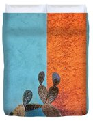 Cactus And Colorful Wall Duvet Cover