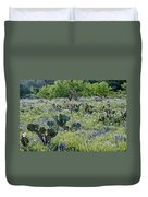 Cactus And Willow-wildflowers Of Texas Duvet Cover