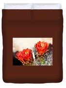 Cactus Bloom 033114m Duvet Cover