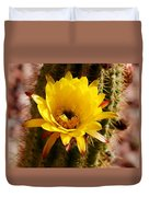 Cactus Bloom Yellow 050914a Duvet Cover