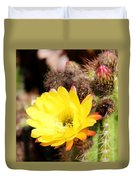 Cactus Blooms Yellow 050214g Duvet Cover