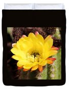 Cactus Blooms Yellow 050214k Duvet Cover