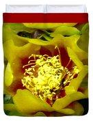 Cactus Blossom Open Duvet Cover
