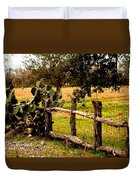 Cactus Fence Line Duvet Cover