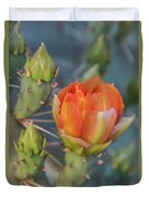 Cactus Flower And Buds Duvet Cover