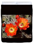 Cactus Flower Twins Duvet Cover