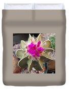Cactus In Flower Duvet Cover