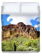 Cactus On The Mountainside Duvet Cover