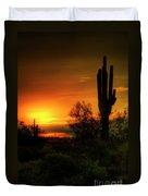 Cactus Sunrise Duvet Cover