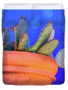 Cactus With Blue Dots Duvet Cover