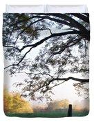 Cades Cove Autumn Morning Duvet Cover