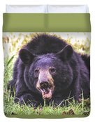 Cades Cove Black Bear Duvet Cover