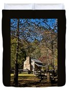 Cades Cove Early Settler Cabin  Duvet Cover
