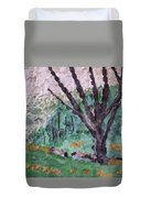 Cades Cove Meadow Duvet Cover