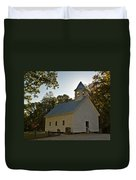 Cades Cove Methodist Church Aglow Duvet Cover