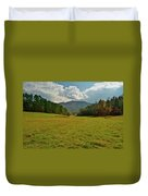 Cades Cove Pasture Duvet Cover