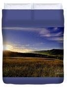 Cades Cove Sunrise Duvet Cover