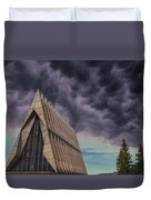 Cadet Chapel At The United States Air Force Academy Duvet Cover